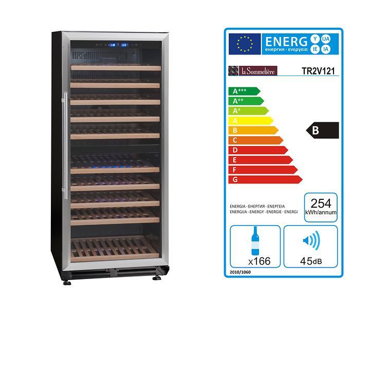 Zweizonen Einbaukühlschrank TR2V 121