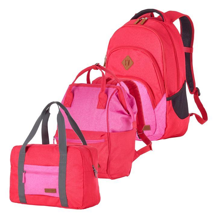 travelite Neopak Taschen und Rucksack, rot/pink