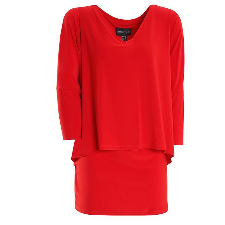 3/4-Arm-Shirt Nathalia rot Gr. 48