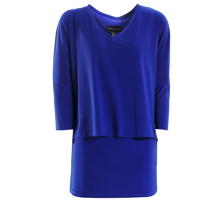 3/4-Arm-Shirt Nathalia blau Gr. 46