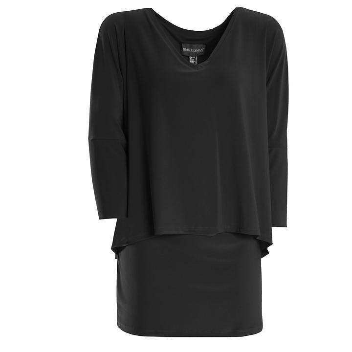 3/4-Arm-Shirt Nathalia schwarz Gr. 48