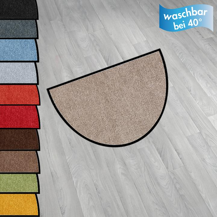Fußmatte 50x75 cm, halbrund