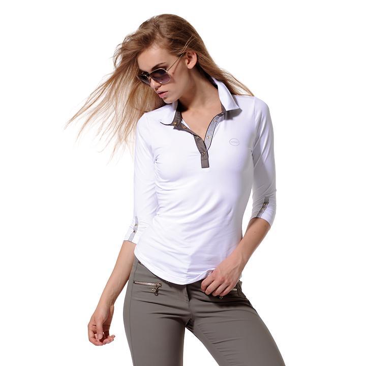 3/4-Arm-Shirt Meryl weiß Gr. 46