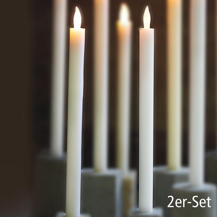 LED-Stabkerzen 2er-Set weiß