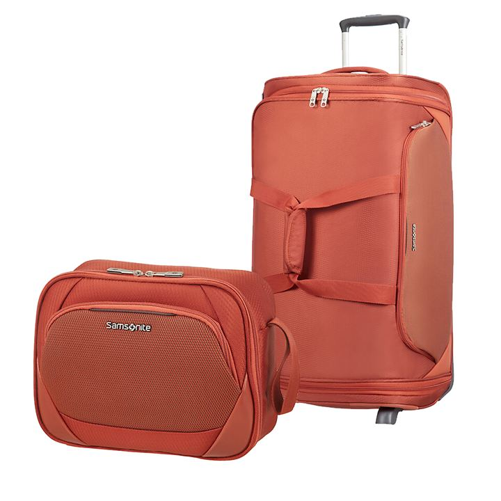 Samsonite Dynamore Reise- und Kulturtasche, Burnt Orange, 4 Rollen