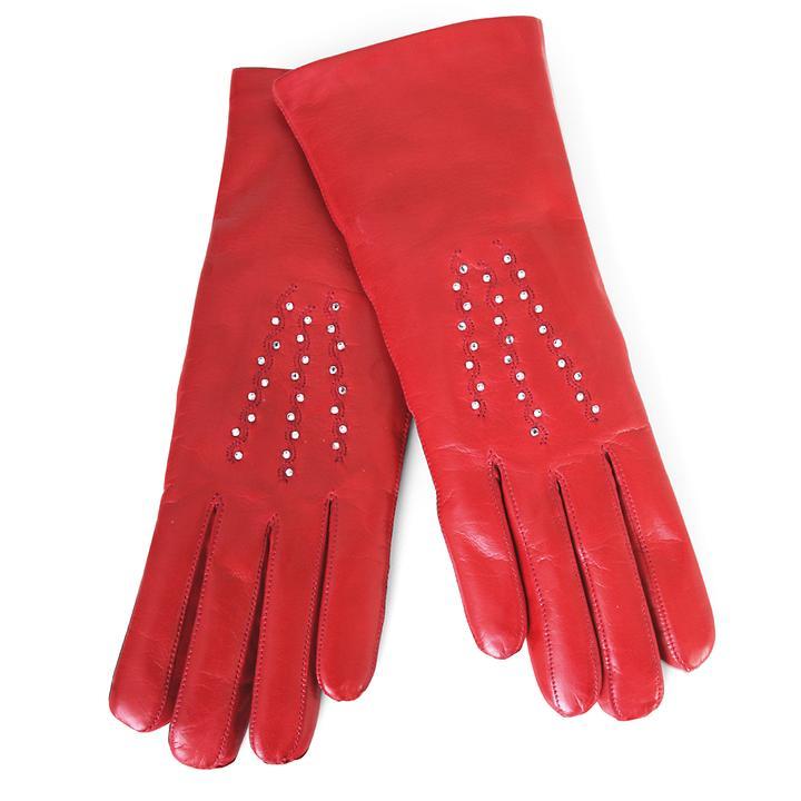 Lederhandschuhe Gloria rot | Accessoires > Handschuhe > Lederhandschuhe | Karma Gloves