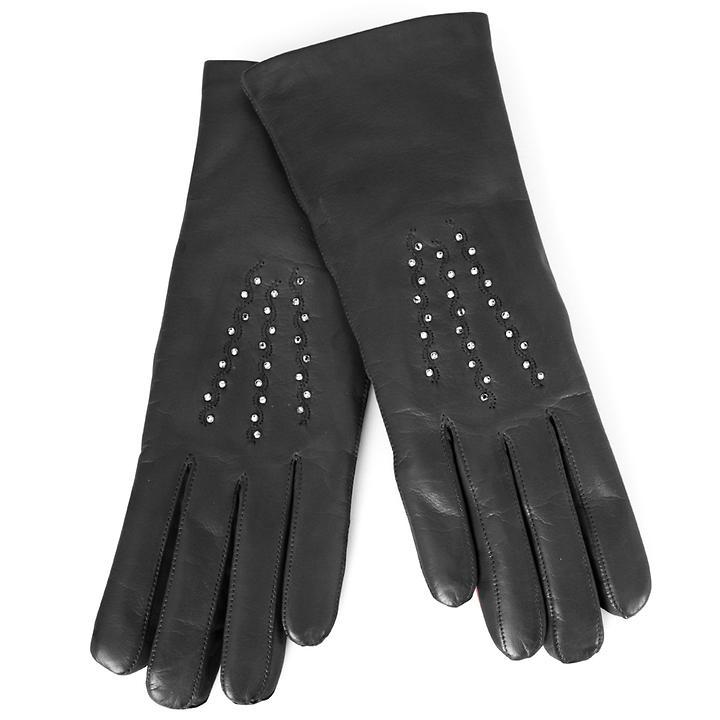 Lederhandschuhe Gloria schwarz | Accessoires > Handschuhe > Lederhandschuhe | Karma Gloves