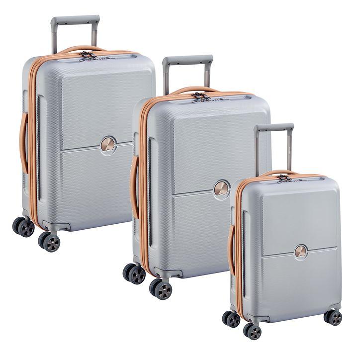Delsey Turenne Premium Trolleys, Silber, 4 Rollen