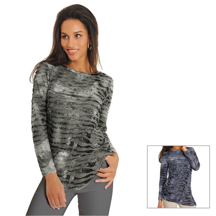 Langarm-Shirt Crinkle