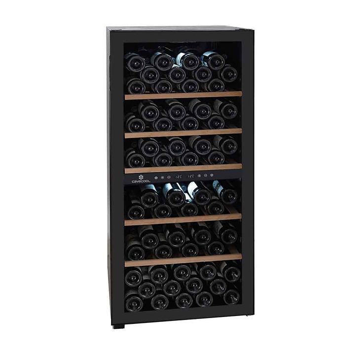 Zweizonen-Weinkühlschrank CaveCool Sapphire f. 102 Fl.