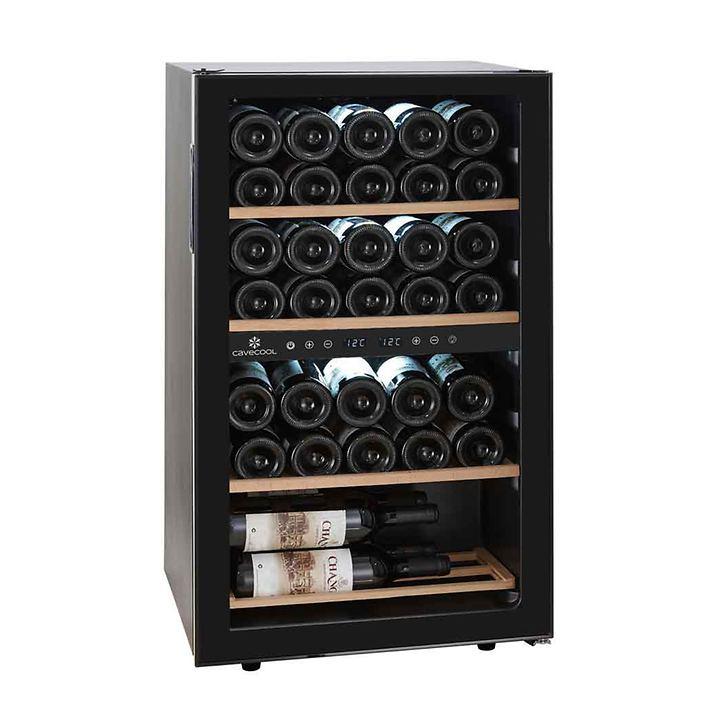 Zweizonen-Weinkühlschrank CaveCool Chill Ruby f. 34 Fl.