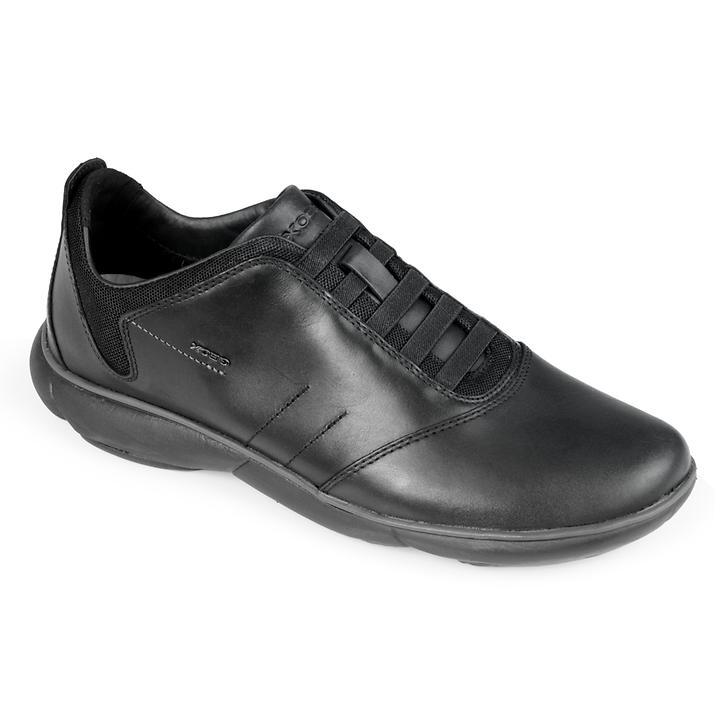Leder-Sneaker Nebula schwarz Gr. 42