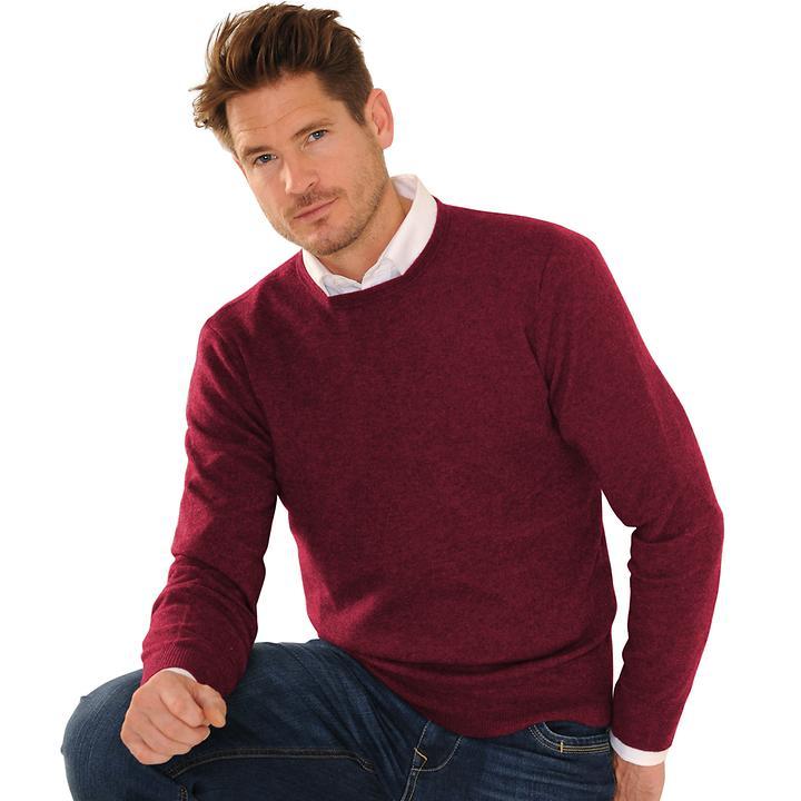 Kaschmir-Pullover Daniel Hechter bordeaux Gr. L