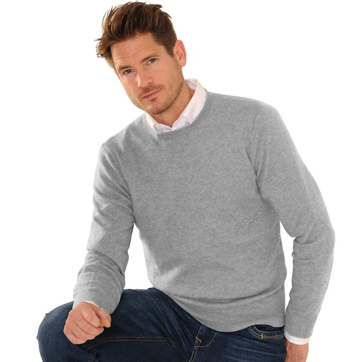 Kaschmir-Pullover Daniel Hechter hellgrau Gr. XL