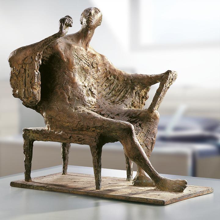 Skulptur Sitzender, schreibend