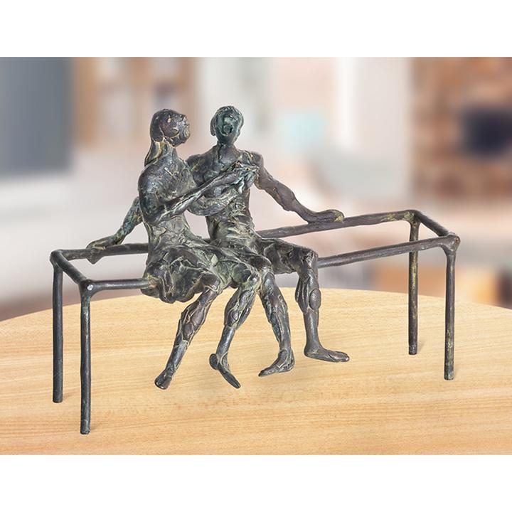 Skulptur Kinder auf Gestell