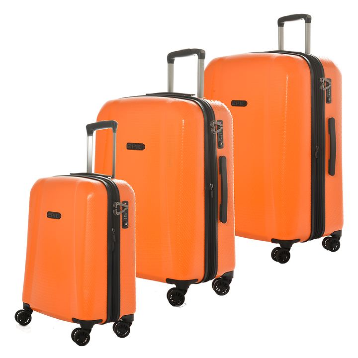 EPIC GTO 4.0 Trolleys, Firesand Orange, 4 Rollen