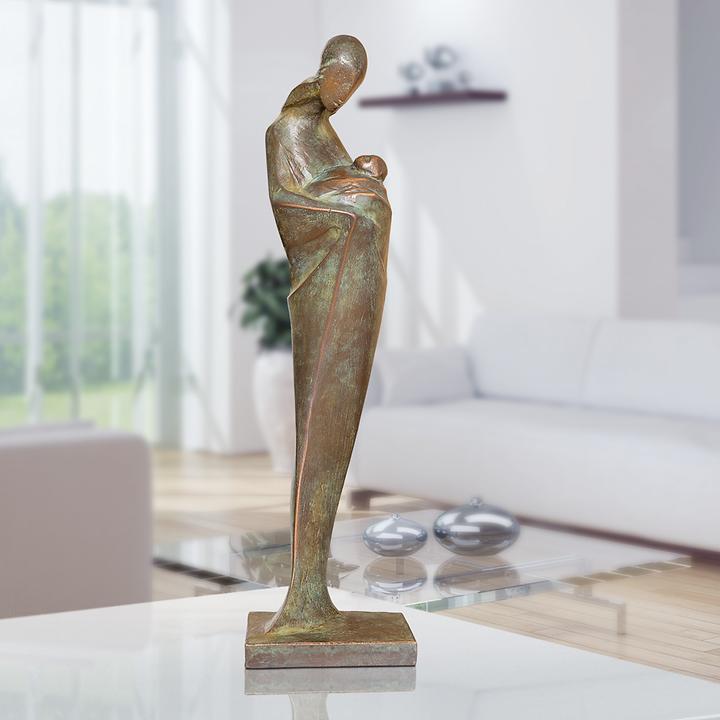 Skulptur Mutter mit Kind