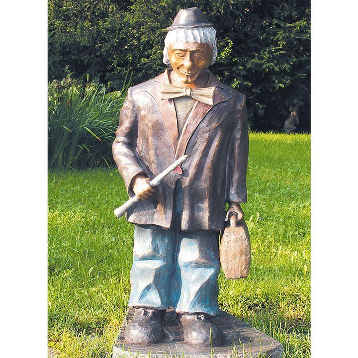 Skulpturen Clown mit Harmonika & Clown mit Flöte
