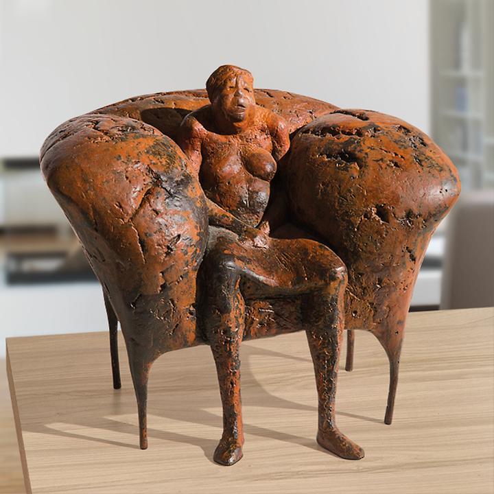 Skulptur Ersesselt von Anette Mürdter