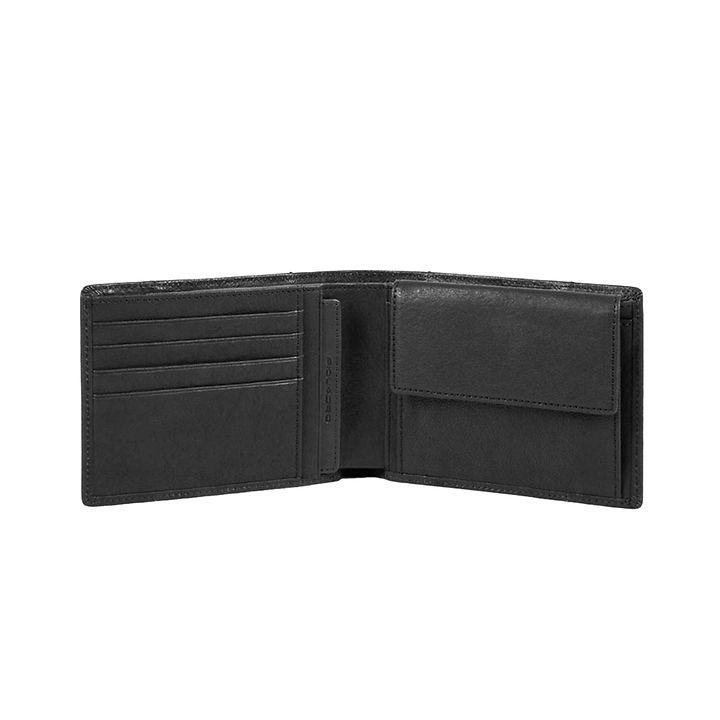 Piquadro Brief, 10 cm, Brieftasche, schwarz (PU257BRR/N)
