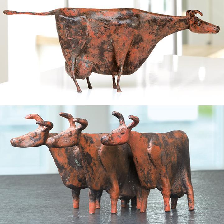 Skulpturen Kühe