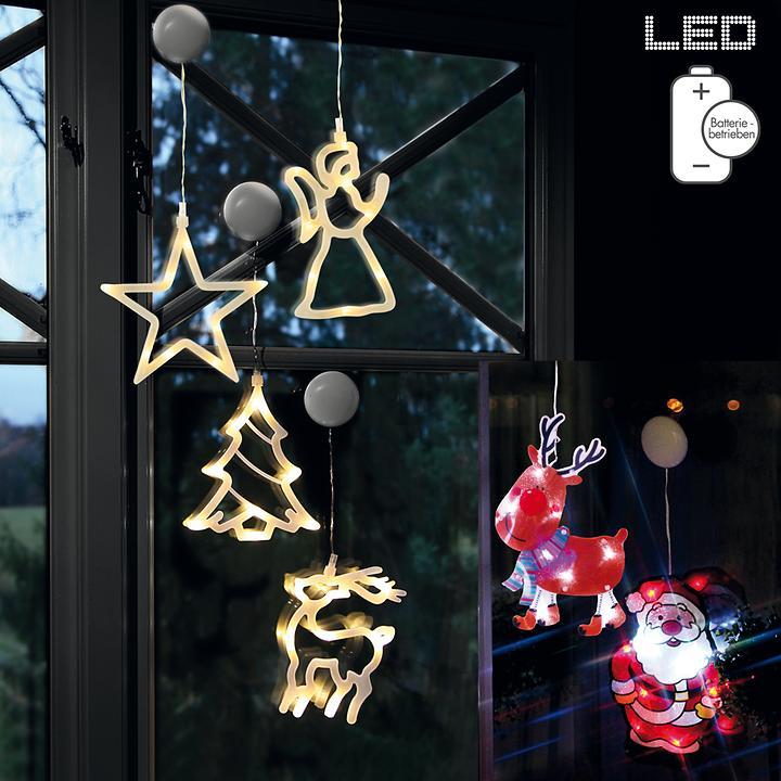 LED-Fensterdekoration batteriebetrieben
