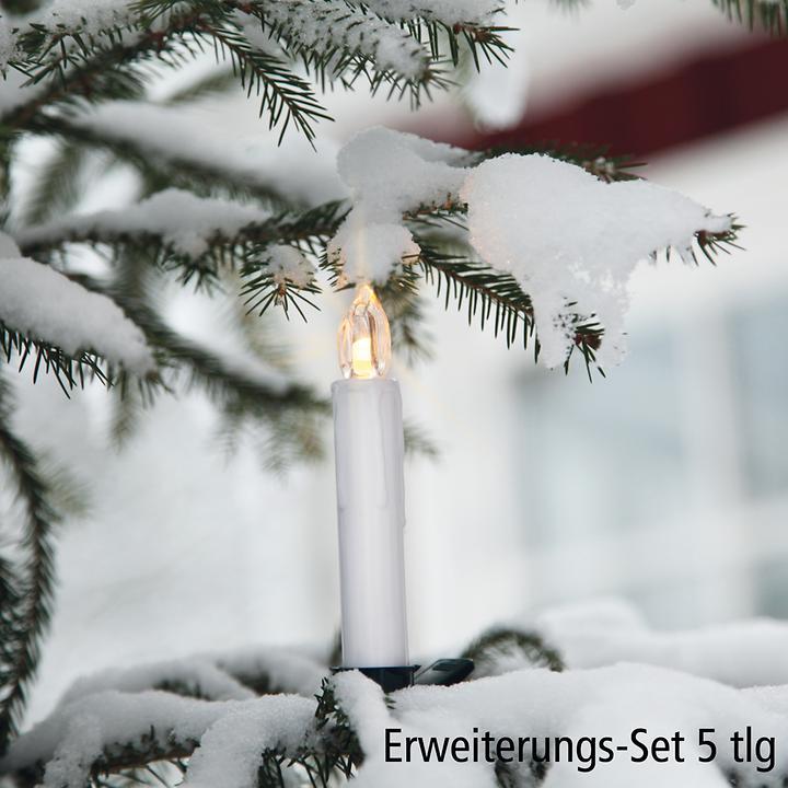 LED-Baumkerzen Erweiterung 5er-Set
