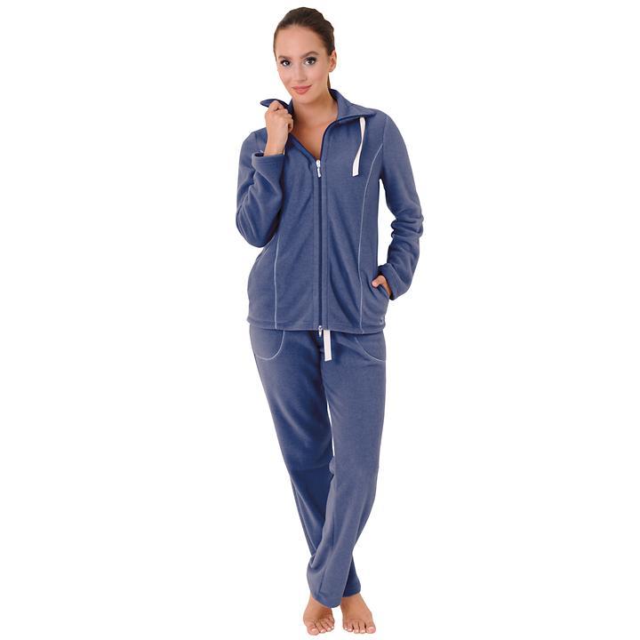 Hausanzug Softy blau | Bekleidung > Homewear > Hausanzüge | Rösch