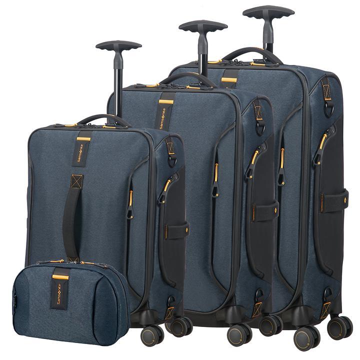 Samsonite Paradiver light Trolleys & Toilet Kit, jeans blau, 4 Rollen