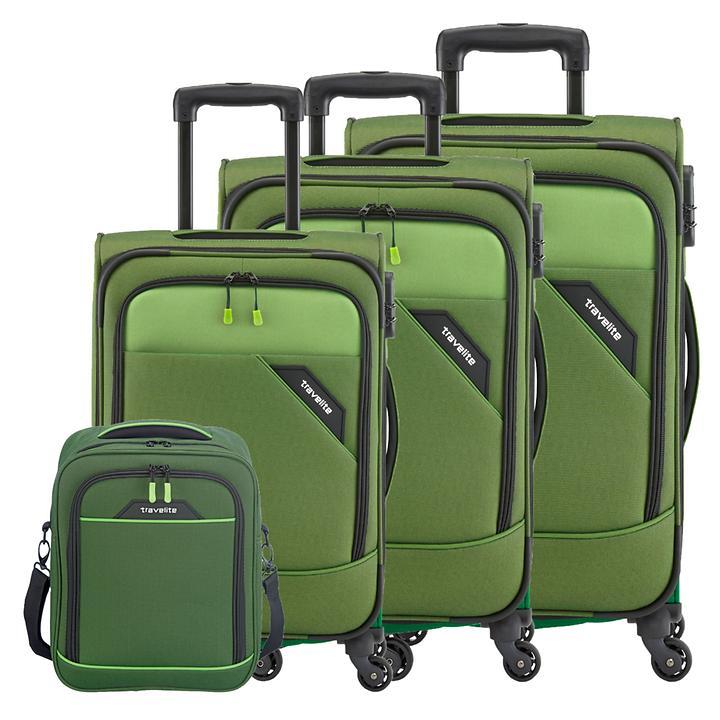 travelite Derby Trolleys & Bordtasche, grün, 4 Rollen