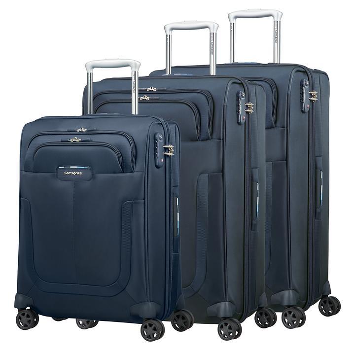 Samsonite Duosphere, Trolley, dark blue , 4 Rollen, Kabinengepäck