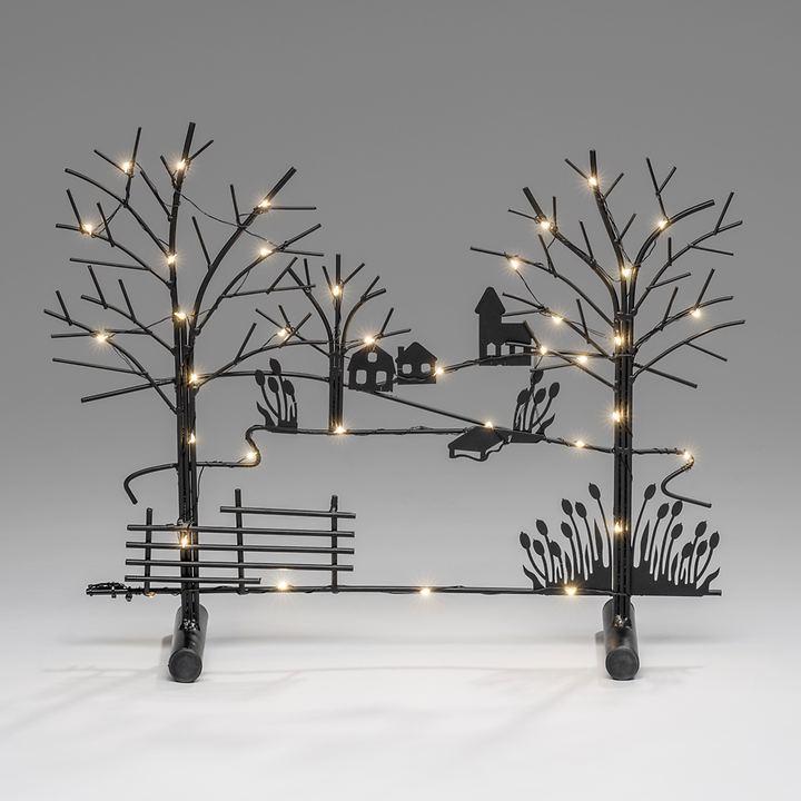 "*All for X-Mas*: LED-Leuchter ""Wald"" aus Metall, schwarz"