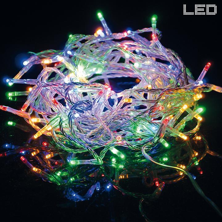 LED-Lichterkette bunt bunt indoor