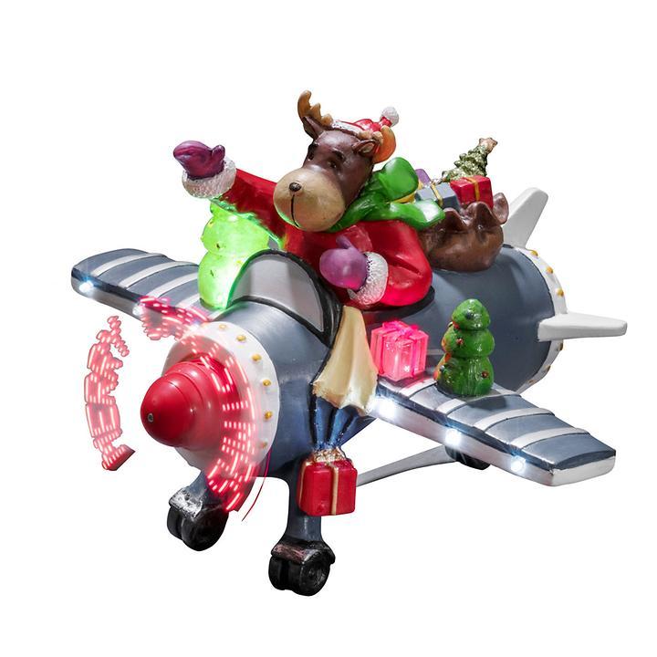 LED-Flugzeug mit Rentier batteriebetrieben