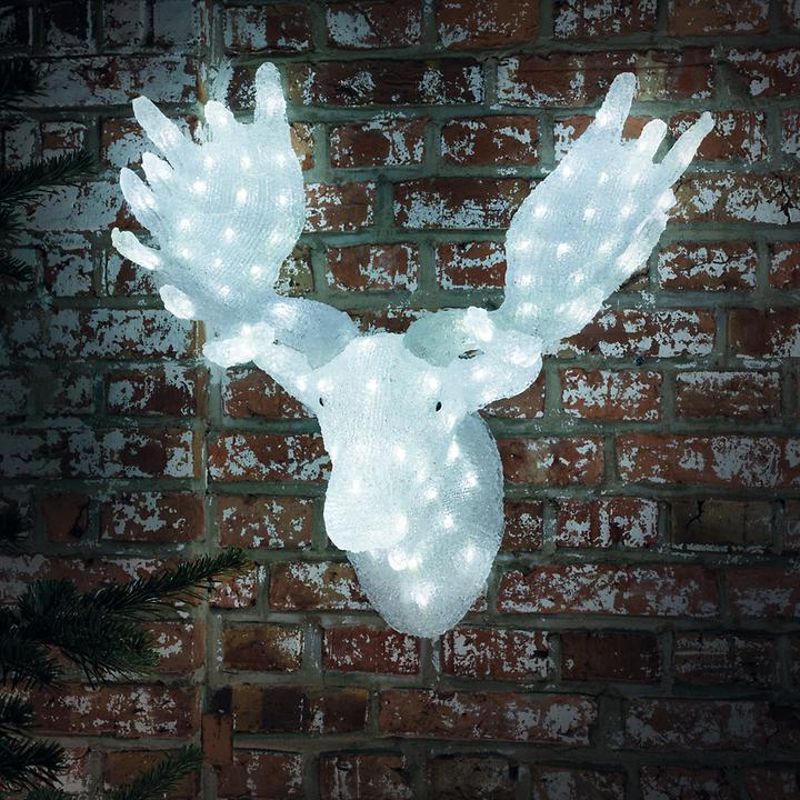 LED-Acrylfigur Elchkopf