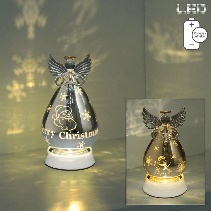 LED-Glaskugel Engel batteriebetrieben