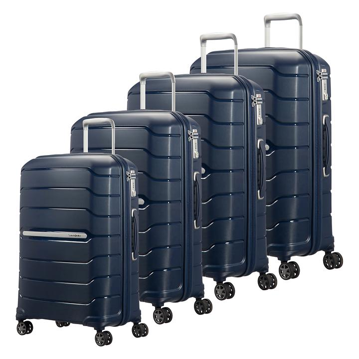 Samsonite Flux Trolleys, navy blue, 4 Rollen