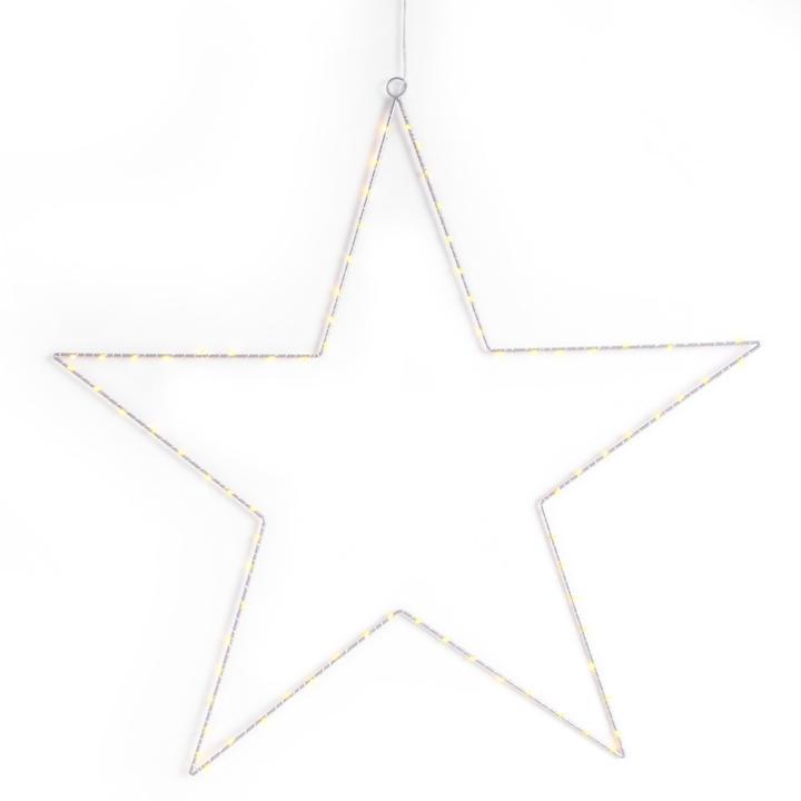 LED-Stern silber D 70 cm