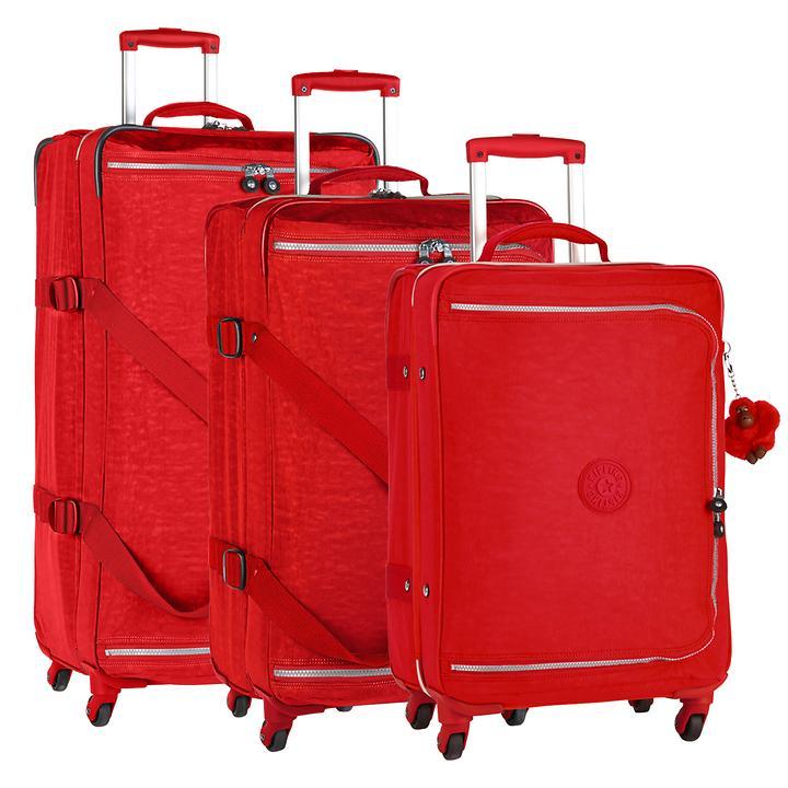 Kipling Cyrah, Trolley, vibrant red, 4 Rollen, Kabinengepäck