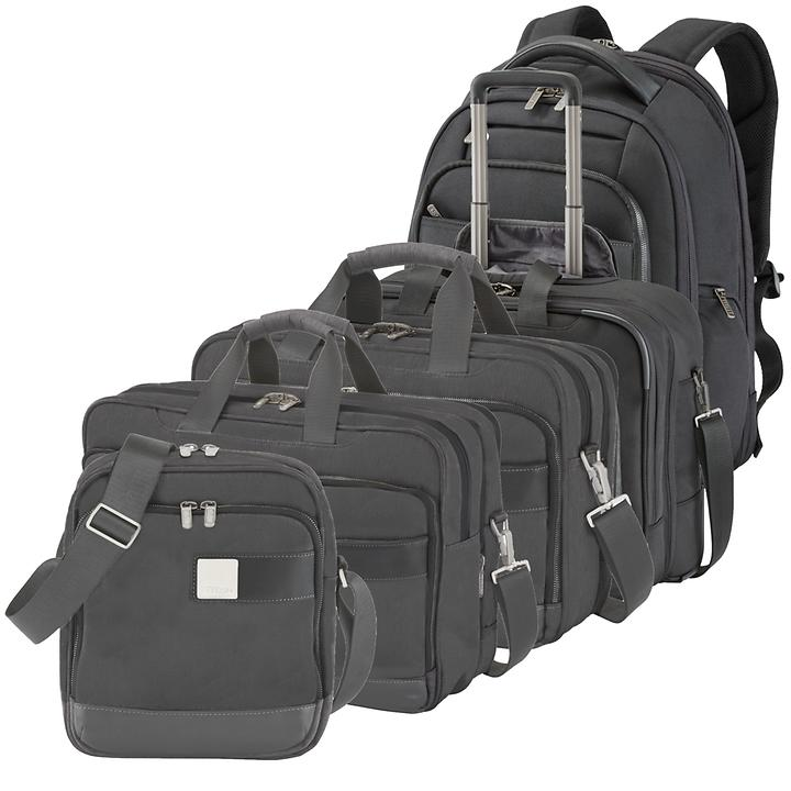 TITAN Power Pack Business Wheeler, Backpack, Laptop Bag & Shoulderbag, black