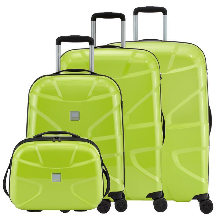 TITAN X2 Beautycase und Trolley mit 4 Rollen lime green