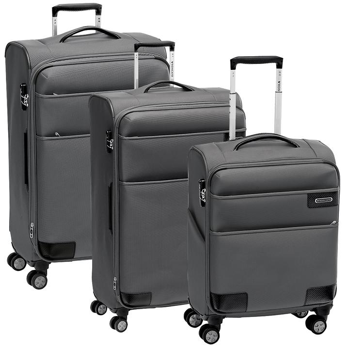 Roncato UNO Soft Deluxe Trolleys anthrazit 4 Rollen