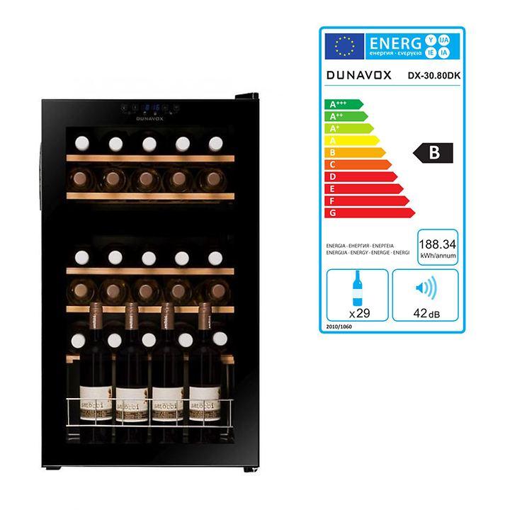 Zweizonen-Weinkühlschrank f. 30 Fl.
