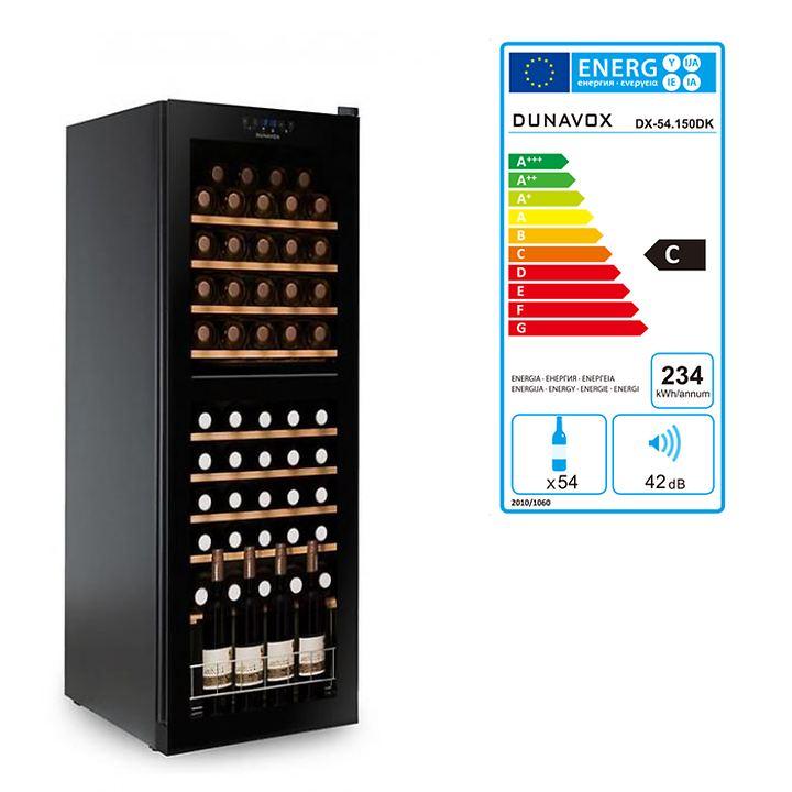 Zweizonen-Weinkühlschrank f. 54 Fl.