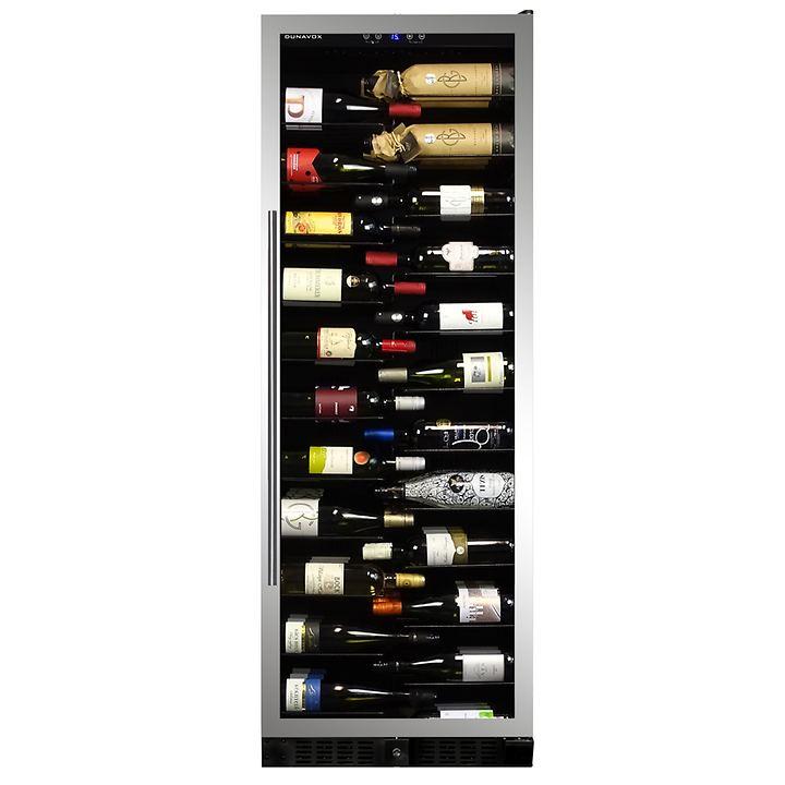 Einzonen-Weinkühlschrank f. 143 Fl., silber