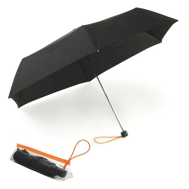 Samsonite Reise-Taschenschirm , schwarz, mit Beutel