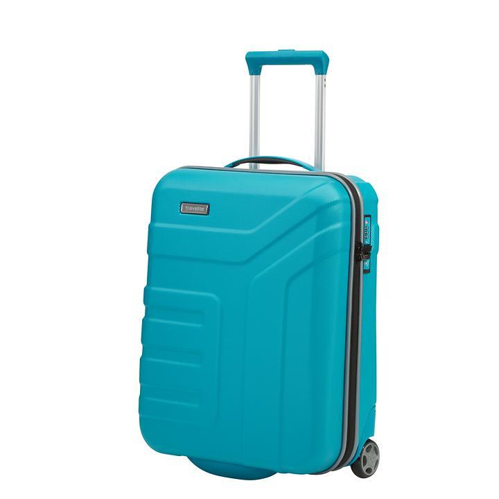 travelite Vector, 55 cm, Trolley, türkis, 2 Rollen, Kabinengepäck