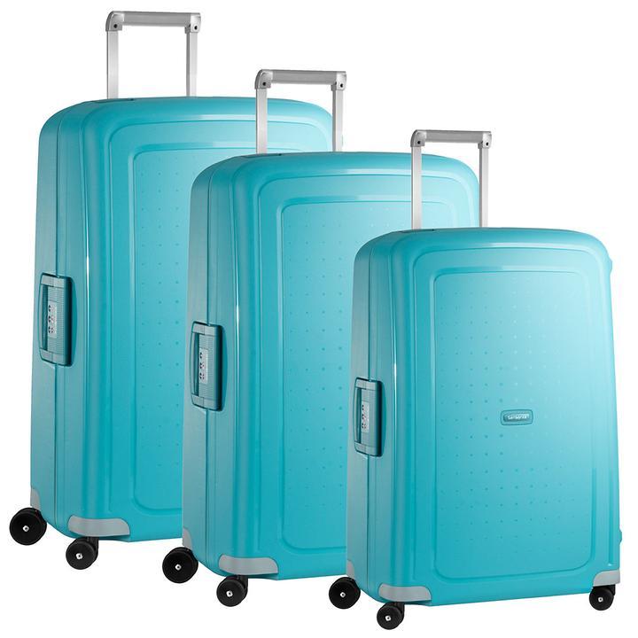 Samsonite S'Cure Trolleys aqua blue 4 Rollen