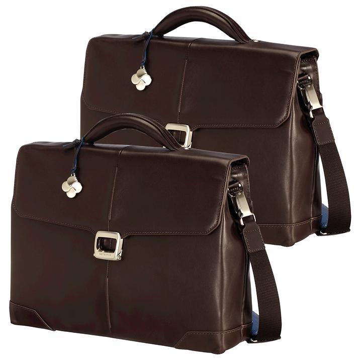 Samsonite S-Oulite LTH Laptop Aktentaschen mit 2 und 3 Fächern braun